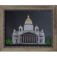 """Картина Swarovski """"Исаакиевский собор в Санкт-Петербурге"""""""
