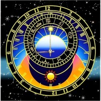 "Картина Swarovski ""Часы ""Астрология судеб"""""