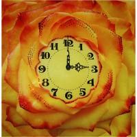 """Картина Swarovski """"Часы """"Чайная роза"""""""""""