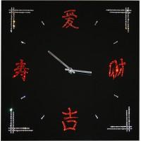 """Картина Swarovski """"Часы """"Китайские иероглифы"""""""""""