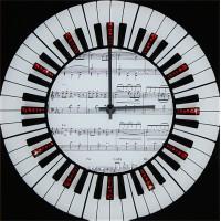 "Картина Swarovski ""Часы ""Мелодия"""""