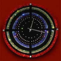 """Картина Swarovski """"Часы """"Мишень"""""""""""