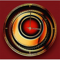 "Картина Swarovski ""Часы ""Объемный взгляд"""""