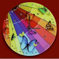 "Картина Swarovski ""Часы ""Полет красок"""""