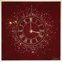 "Картина Swarovski ""Часы ""Счастливое время"""""