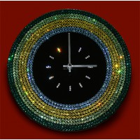 "Картина Swarovski ""Часы ""Весеннее ожерелье"""""