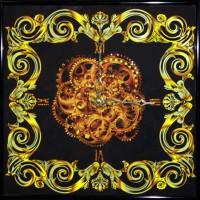 "Картина Swarovski ""Часы ""Витраж"""""