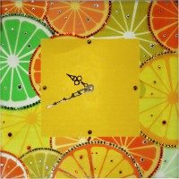 "Картина Swarovski ""Часы""Апельсины """""