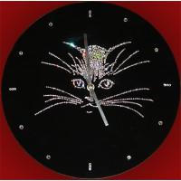 """Картина Swarovski """"Часы""""Кошка"""""""""""