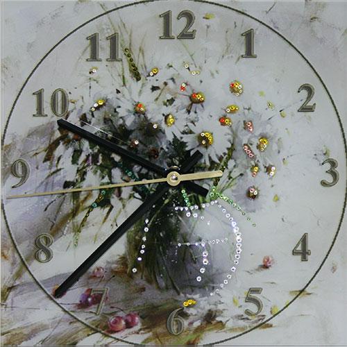 """Часы с кристаллами Swarovski """"Букет ромашек"""""""