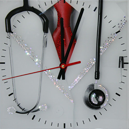 "Часы с кристаллами Swarovski ""Доктор"""