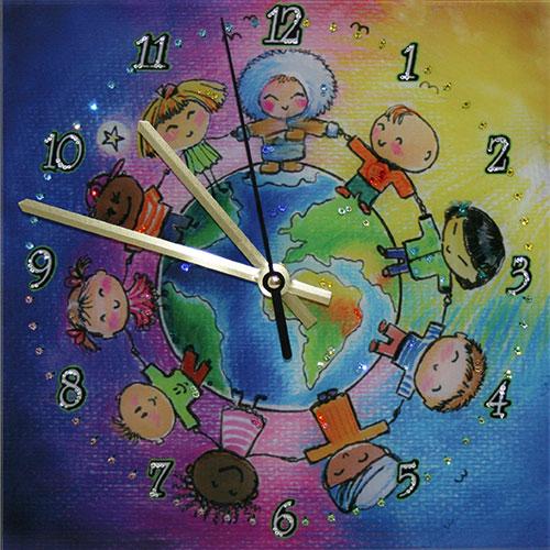 """Часы с кристаллами Swarovski """"Дружба народов"""""""
