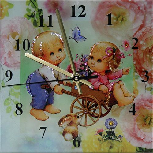 "Часы с кристаллами Swarovski ""Потехе час"""