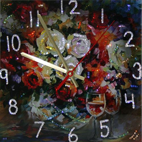 "Часы с кристаллами Swarovski ""Розы"""