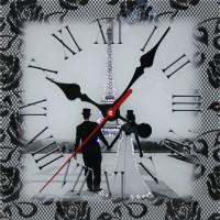 """Часы с кристаллами Swarovski """"Свадебный Париж"""""""