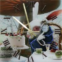 """Часы с кристаллами Swarovski """"Время пить чай"""""""