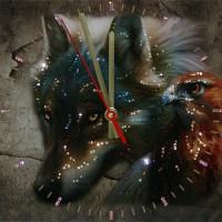 """Часы с кристаллами Swarovski """"Взгляд хищника"""""""