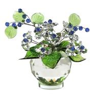 Хрустальная композиция с цветами