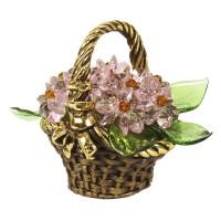 Корзинка с цветами из хрусталя