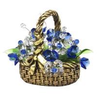 Корзинка с хрустальными цветами