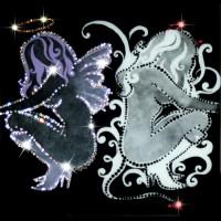 "Картина Swarovski ""Ангел и демон"""
