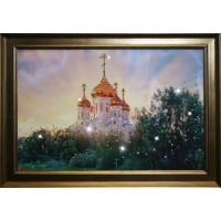 """Картина с кристаллами Swarovski """"В лучах солнца"""""""