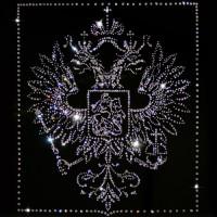 "Картина с кристаллами Swarovski ""Герб РФ (белый)"""