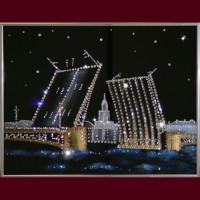 """Картина с кристаллами Swarovski """"Дворцовый мост"""""""