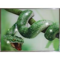 """Картина с кристаллами Swarovski """"Зеленый Змей"""""""