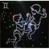 "Картина с кристаллами Swarovski ""Близнецы 25х25 см"""