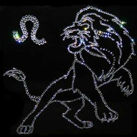 "Картина с кристаллами Swarovski ""Лев 25х25 см"""