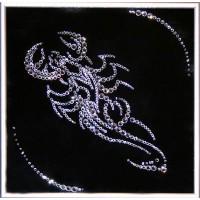 """Картина с кристаллами Swarovski """"Скорпион 25х25 см"""""""