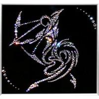 "Картина с кристаллами Swarovski ""Стрелец 25х25 см"""