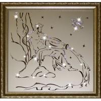 "Картина с кристаллами Swarovski ""Водолей 35х35 см"""