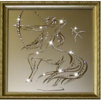 "Картина с кристаллами Swarovski ""Стрелец 35х35 см"""