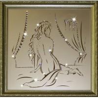 "Картина с кристаллами Swarovski ""Дева 35х35 см"""
