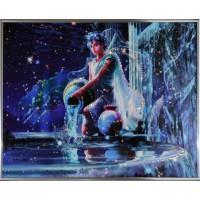 """Картина с кристаллами Swarovski """"Водолей Кагая"""""""