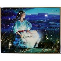 "Картина с кристаллами Swarovski ""Дева Кагая"""