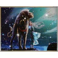 "Картина с кристаллами Swarovski ""Лев Кагая"""