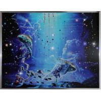 """Картина с кристаллами Swarovski """"Рыбы Кагая"""""""