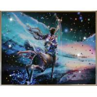 "Картина с кристаллами Swarovski ""Стрелец Кагая"""
