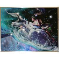 "Картина с кристаллами Swarovski ""Телец Кагая"""