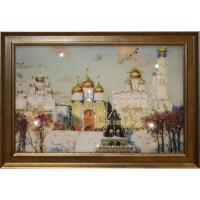"""Картина с кристаллами Swarovski """"Золотые купола"""""""