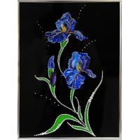 "Картина с кристаллами Swarovski ""Ирисы"""