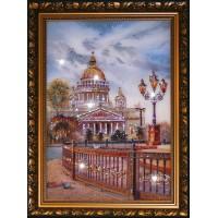 """Картина с кристаллами Swarovski """"Исаакиевский собор"""""""