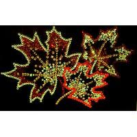 """Картина с кристаллами Swarovski """"Кленовые листья"""""""