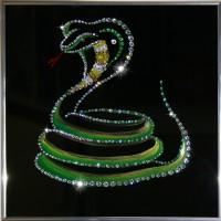 "Картина с кристаллами Swarovski ""Кобра 2013"""