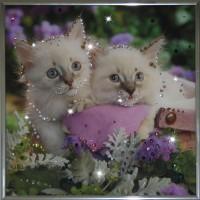 "Картина с кристаллами Swarovski ""Котята"""
