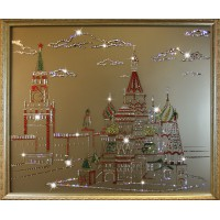 """Картина с кристаллами Swarovski """"Красная площадь"""""""