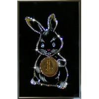 "Картина с кристаллами Swarovski ""Кролик-бакс"""